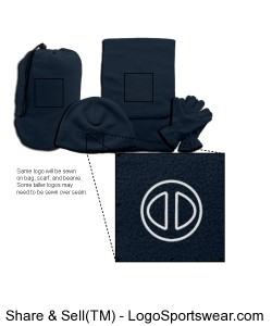 4-In-1 Fleece Gift Set  Design Zoom